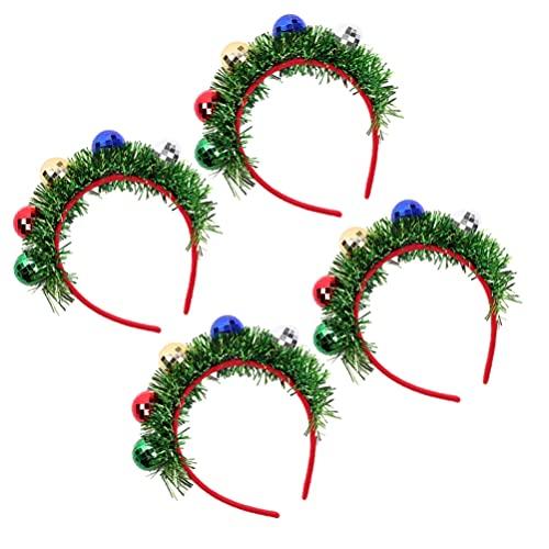 Holibanna 4 Pcs De Noël Bandeau Projecteurs de Balle Tête Guirlande Accessoires Photo Casque Accessoires pour La Fête De Noël Vacances Décorations (Vert)