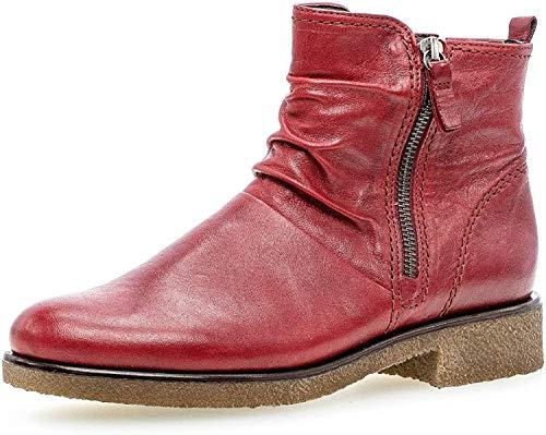 Gabor Damen Biker Boots 32.702, Frauen Stiefelette,Stiefel,Halbstiefel,BikerBootie,flach,Dark-red (Micro),39 EU / 6 UK
