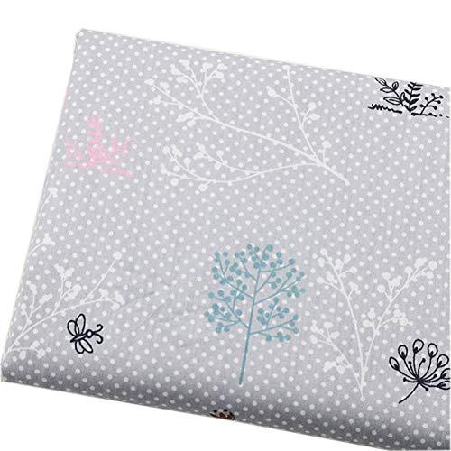 JIAHUI Tela de algodón puro estampado de dibujos animados de tela de algodón accesorios de costura densa funda de almohada opaca (color: 5, tamaño: 160 x 50 cm)
