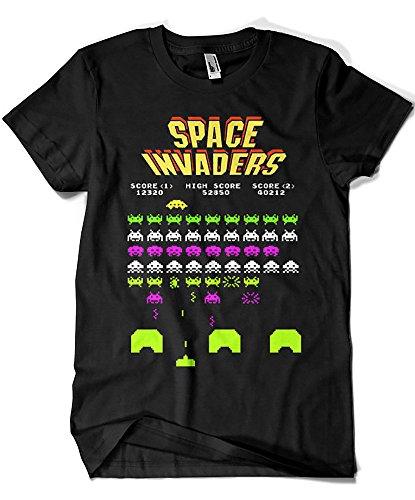 4188-Camiseta Premium, Space Invaders - L