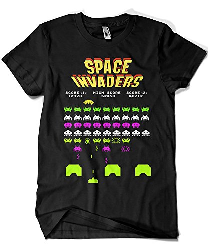 4188-Camiseta Premium, Space Invaders-M