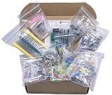 Kit de componentes electrónicos XL surtido, condensadores, resistencias, LED, transistores, diodos, zener, potenciómetros (1760 piezas), 1760