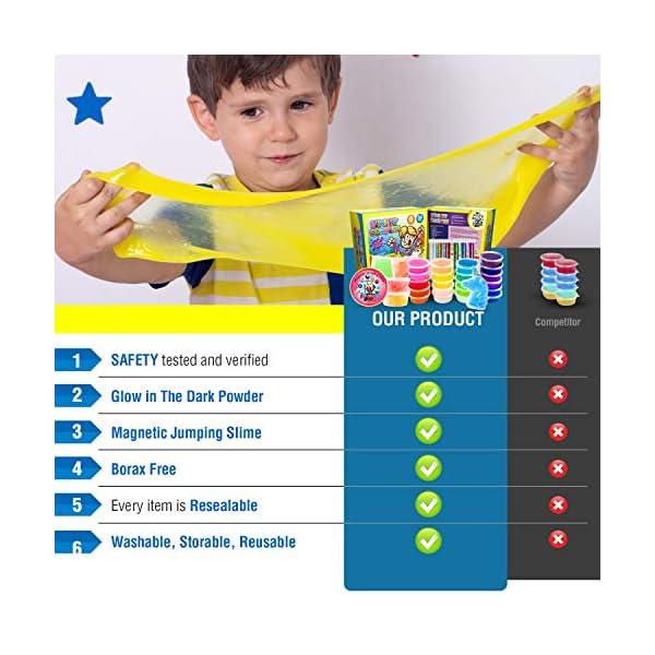 Slime Kit for Girls Complete - Super Fun Girls Toys - Jumping Slime - DIY Big Slime Kit - 21 Color Crystal Slime… 8