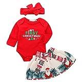 Zoylink Body De Noël pour Bébé Costume De Noël Manches Longues Barboteuse avec Bandeau...