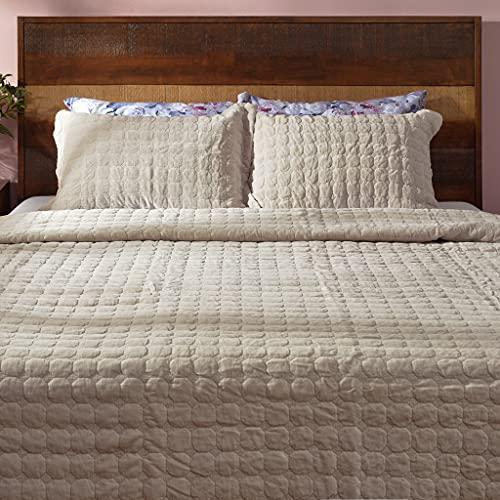 Deco Mex SH0241 - Juego de Funda nórdica de algodón (3 Piezas), Color Gris