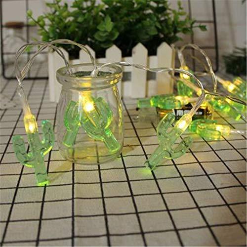RAILONCH Led Lichterkette, Ananas Kaktus Regenbogen Solarenergie/Batterie Im Freien Garten Deko Licht Weihnachtsdekoration (Kaktus - warmes Weiß,Solarmodelle 4 Meter 20 Lichter)