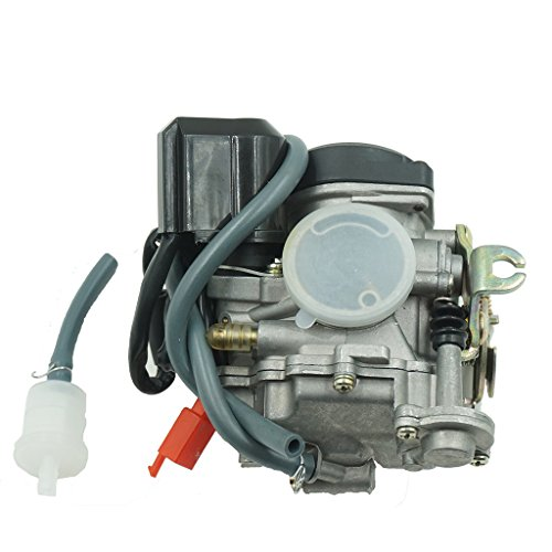 Glixal ATMT1-073-1 GY6 49cc 50cc 80cc 100cc 20mm Big Bore CVK Carburetor with Electric Choke for Chinese Scooter Moped ATV Go Kart Quads Buggy 139QMB 1P39QMB Engine Carbs