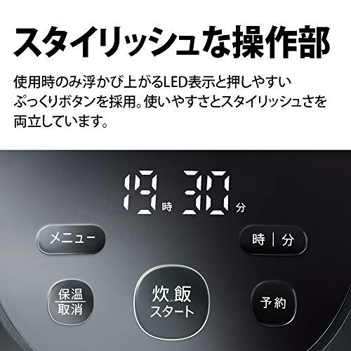 シャープIHジャー炊飯器3合PLAINLYシリーズ匠の火加減ホワイトKS-HF05B-W