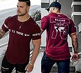 ZHUIABA - Camiseta de algodón para hombre, diseño de gimnasios, fitness, culturismo, entrenamiento, para hombre, de verano, informal, con impresión, C10., large