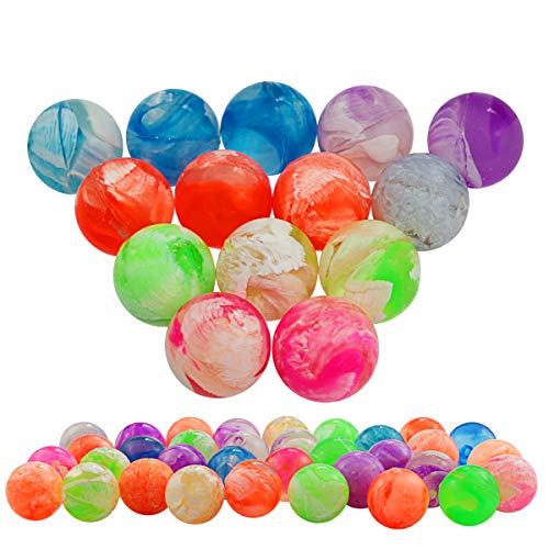 Agreatca 100 pcs Cloud 19 mm Bouncing Balls,Mini Neon Swirl Bouncing Balls,Neon Bouncing Balls Bulk Kit for Kids, Rubber Swirl Bouncing Balls
