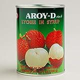 Aroy-D / Lychee in syrup / ライチ .シロップ漬け(ライト)/ 荔枝罐头 / 565g 並行輸入品
