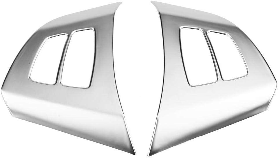 Outbit Lenkrad Lenkradverkleidung 1 Paar Lenkrad Tastenrahmen Dekorationsverkleidung Für Bmw X5 E70 2008 2013 Kohlefaser Und Chrom Farbe Chrome Garten
