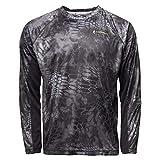 Kryptek Men's Standard Aura LS Shirt, Typhon/Black, XL