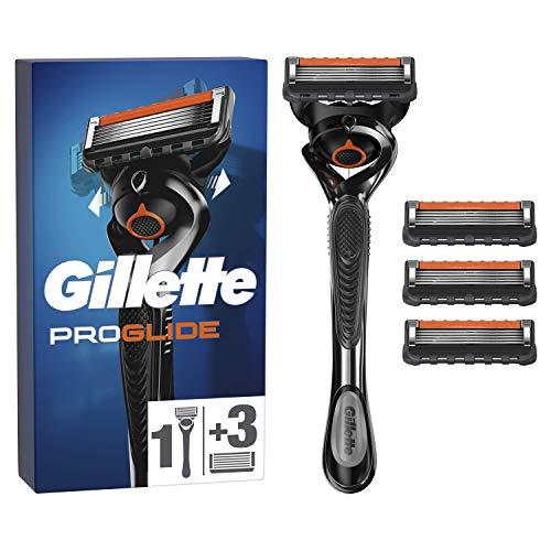 Gillette Fusion5 ProGlide Razor para hombres + 3 cuchillas, con tecnología FlexBall que responde a los contornos y consigue prácticamente cada cabello, paquete especial de iniciación