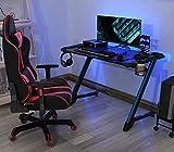 EUREKA ERGONOMIC Gaming Tisch Computertisch 114 * 64 cm RGB Gaming Computertisch - 2