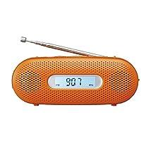 パナソニック ラジオ FM/AM/ワイドFM対応 手回し充電対応 オレンジ RF-TJ20-D