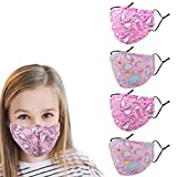 Washable Kids Face Mask with Adjustable Ear...