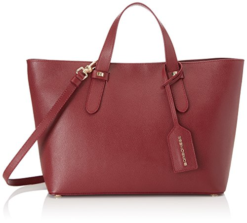 Borbonese Shopping C/t, Borsa a Spalla Donna, Rosso (Burgundy), 33x25.5x12 cm (W x H x L)