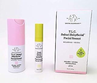 Drunk Elephant T.L.C. Sukari Babyfacial Midi + Virgin Marula Luxury Facial Oil Mini
