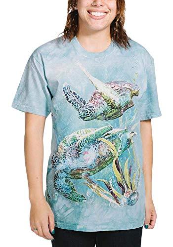 The Mountain Sea Trtl Swim Adult T-Shirt, Green, XL