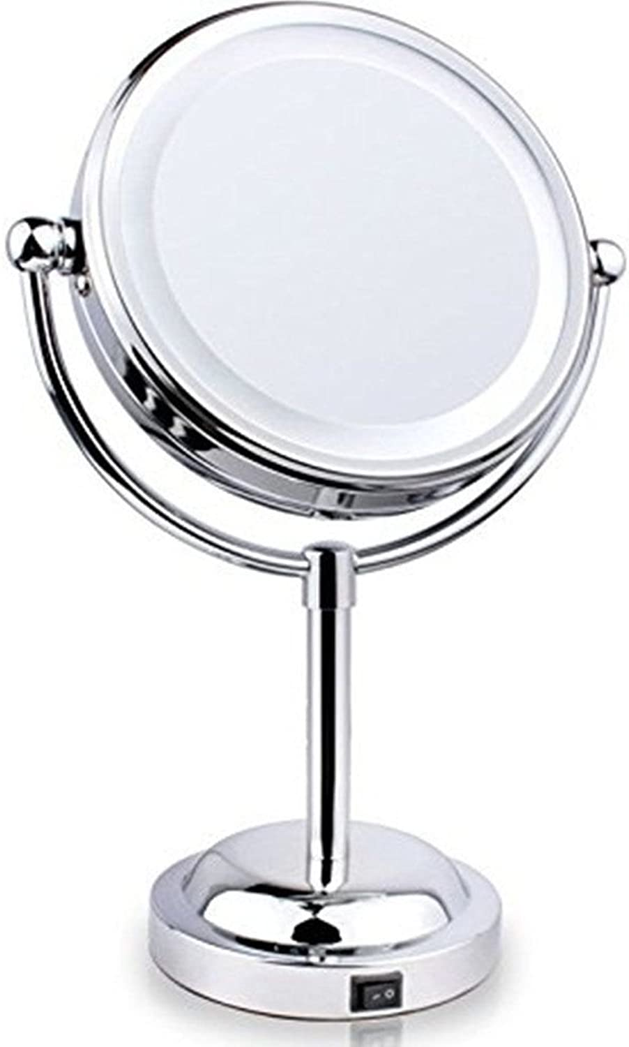 Makeup Mirror,Double-Sided LED Lighted Vanity Mirrors with 3X Polished  7.48x3.9x11.4 inch