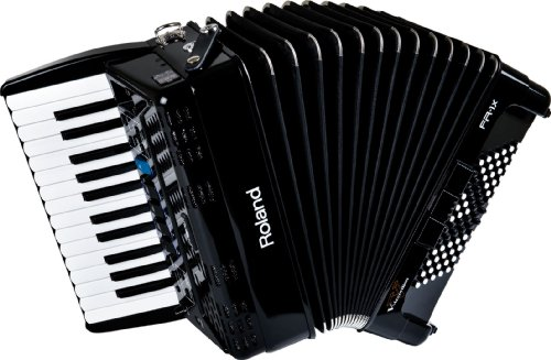 Roland FR-1X Premium V-Accordion Lite with 26 Piano Keys and Speakers, Black