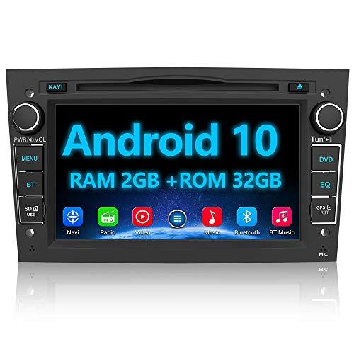 AWESAFE Android 10 Autoradio für Opel 2DIN Radio mit Navi, unterstützt DAB+ WiFi CD DVD Bluetooth MirrorLink 7 Zoll Bildschirm RDS Radio - Schwarz