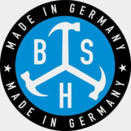 tacos de nailon 6 x 40 hasta 8 x 120 mm cabeza avellanada en cruz BSH/® Tacos con clavo fabricados en Alemania,100 unidades 100/% calidad 100/% fabricado en Alemania
