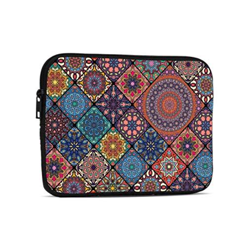 Estuches para portátiles Maletín Floral Antiguo de Estilo Tribal con Mandala Compatible con iPad 7,9/9,7 Pulgadas Bolsa Protectora de Neopreno a Prueba de Golpes con Cremallera y asa con