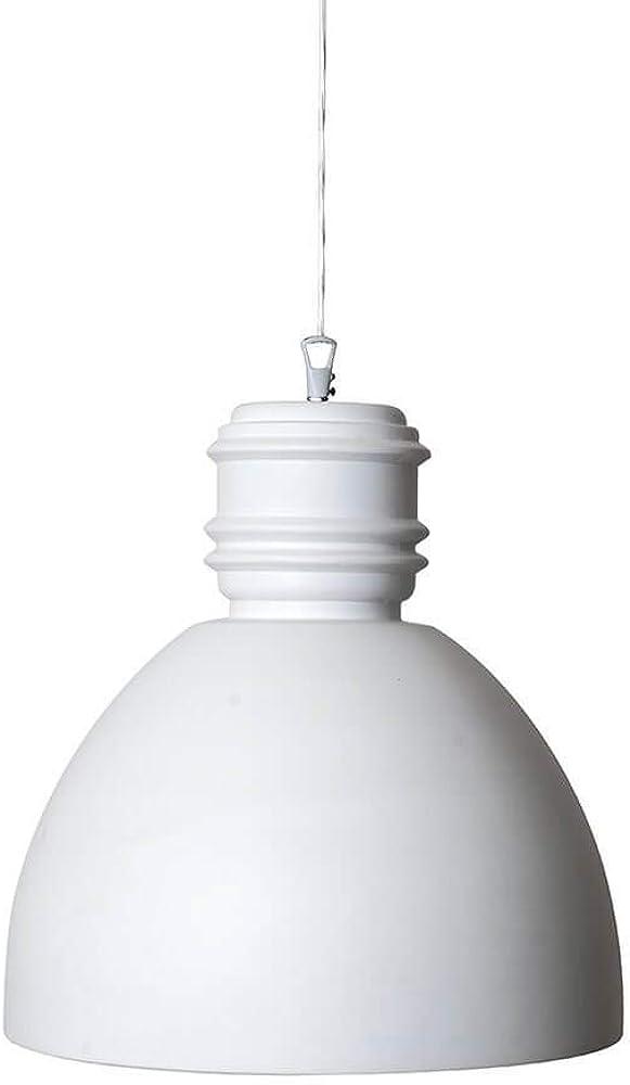 Karman via rizzo 7, lampada a sospensione Ø33 cm,in ceramica bianca opaca SE694PB
