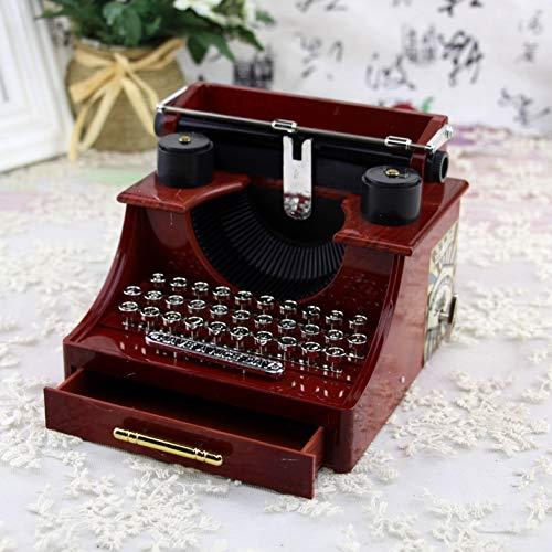 Lucidting Schreibmaschine Spieluhr Mit Schublade Schmuckschatulle Schreibmaschine