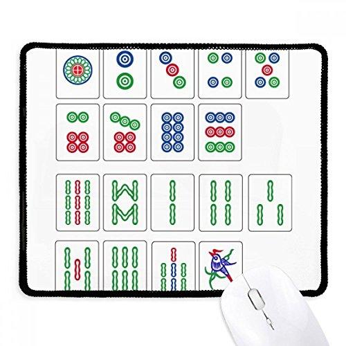 Chinese cultuur Mahjong schaken spel anti-slip muismat spel kantoor zwart Titched Edges Gift