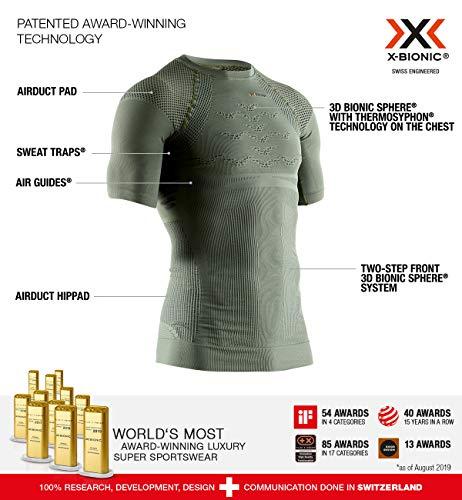 X-Bionic Hunt Energizer SS M, Strato Base Camicia Funzionale Uomo, Olive Green/Anthracite, M