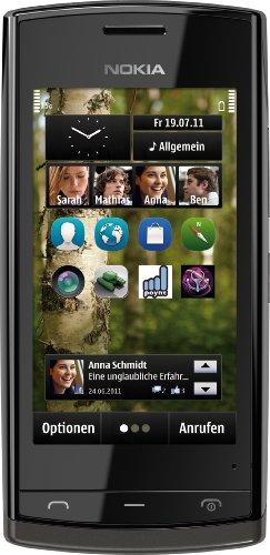Nokia 500 Smartphone (8,1 cm (3,2 Zoll) Bildschirm, Touchscreen, 5 Megapixel Kamera, 2GB Speicher) schwarz
