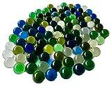 FAIRY TAIL & GLITZER FEE 95 canicas de cristal transparentes de 16 mm, bolas de cristal transparentes, para rellenar jarrones, canicas decorativas, juego de canicas