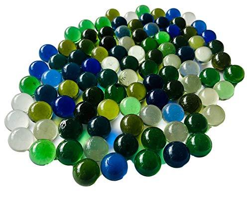 FAIRY TAIL & GLITZER FEE Glasmurmeln Bunt Klar 95 Murmeln 16mm Glas-Kugeln Murmel Vasen-Füllungen transparent Murmeln Dekoschalen Murmelspiel Glas