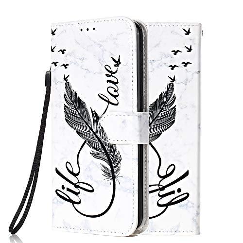 Funda Libro para Samsung Galaxy J3 2017 Carcasa de Cuero PU Premium Flip Wallet Case Cover con Tapa Teléfono Piel Tarjetero - Pluma