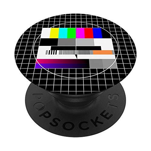 Técnica de prueba retro de televisión de los años 80 PopSockets PopGrip Intercambiable