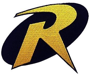 1 X ROBIN  R  Uniform Logo- BATMAN Animated Series 3.5  Costume Patch