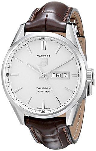 TAG Heuer WAR201B.FC6291 - Reloj para Hombres, Correa de Piel de Borrego Color marrón