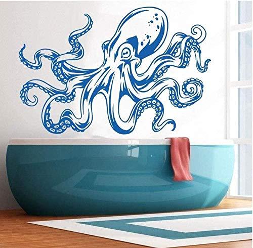 YFKSLAY Wandaufkleber Hauptdekoration Oktopus Tentakel Wandtattoos Umweltschutz Meerestiere Vinyl Kunst Wandbilder Badezimmer Wand Glas Tapete 34 * 23