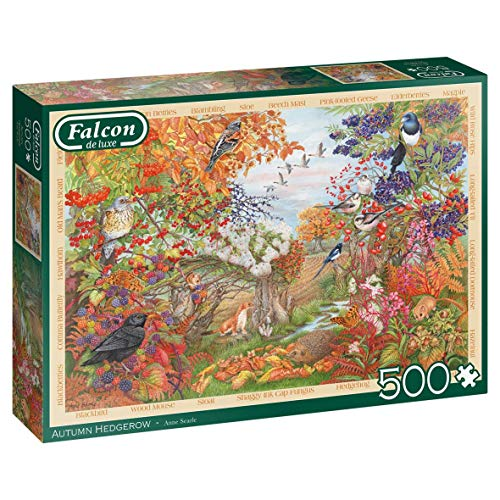Jumbo 11270 500 Piece Jigsaw Falcon de Luxe – Autumn Hedgerow, 500-teiliges Puzzle, Multi