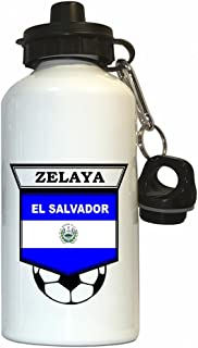 Custom Image Factory Rodolfo Zelaya (El Salvador) Soccer Water Bottle White