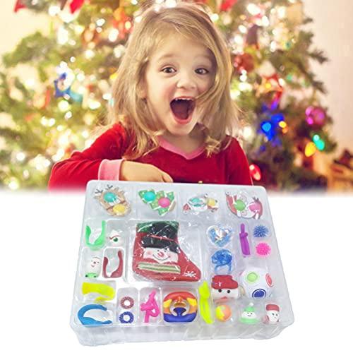 Gtytrxi Zintuiglijke Speelgoed Kerst Countdown 24 Dag Kalender Pack Childrens Anti-angst Decompressie Speelgoed…