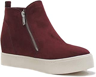 MVE Shoes Womens Stylish Soda Comfortable Platformed High Top Sneaker
