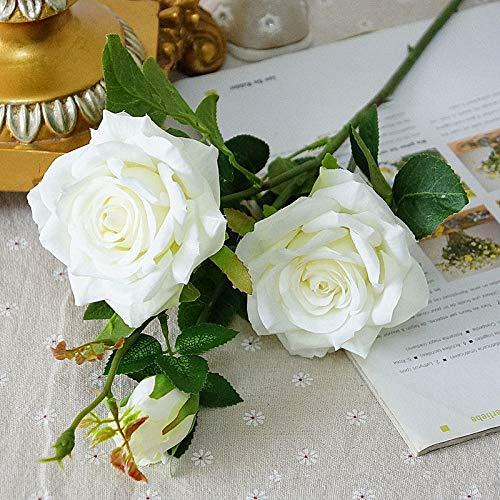 MEITAO Kunstbloem Kunstmatige Parfum Rozen Nep Bloemen Zijde Voor Thuis Feest Bruiloft Op Roos Kleur: wit