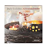 pajoma Duftkerzen Adventskalender - 24 Teelichte in 6 Sorten inkl. Teelichthalter
