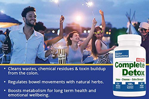 Longevity Complete Detox [BETA Formula ]7 Day 21 Caps – Accelerated Whole Body Detox with Laxative for Most Thorough Cleanse