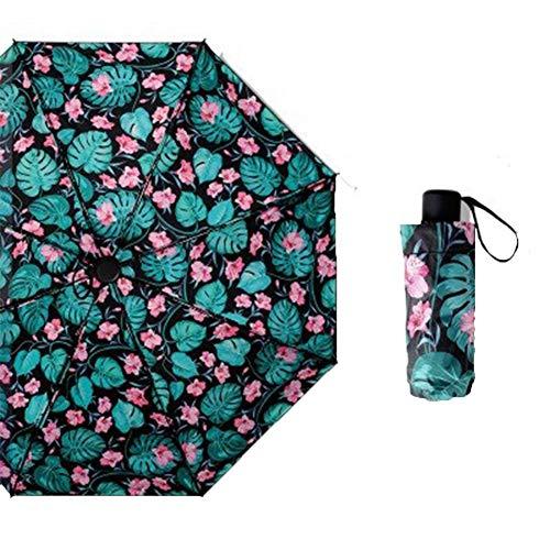 WQQ Mini-Regenschirm, winddicht, regendicht, UV-Schutz, 5 faltbar, kompakt, faltbar, klein, leicht, wasserdicht, Regenschirm, Regenschirm für Damen, Herren und Kinder Gr. 42, B