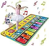 Ballery Tappeto Musicale Bambini, 148 x 60cm Grande Tastiera Pianoforte Musichette Giocattolo Tappetino da Ballo per Pianoforte Piano Mat Educativo Perfetto Natale Regalo per Bambini Bimbi